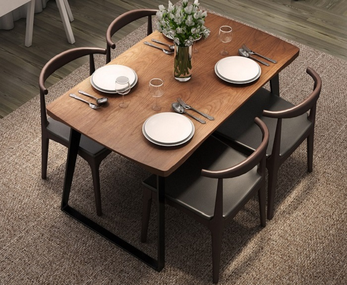 Top 15+ mẫu bàn ghế gỗ cao su - Hàng nhập khẩu chính hãng-12