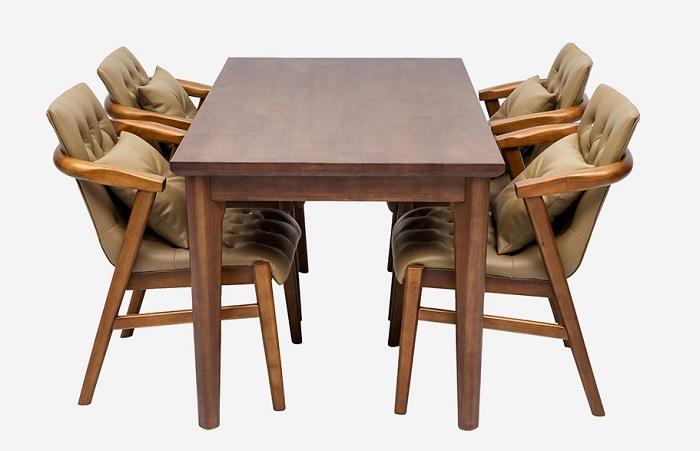 Top 15+ mẫu bàn ghế gỗ cao su - Hàng nhập khẩu chính hãng-13