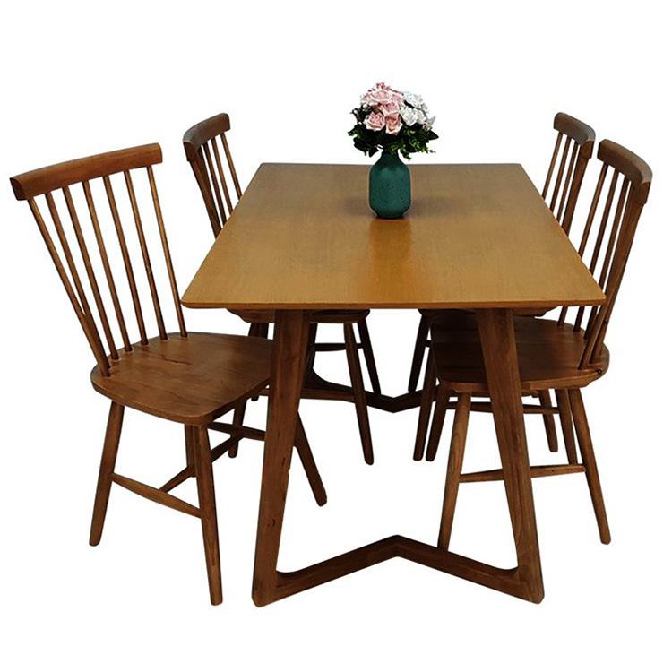 Top 15+ mẫu bàn ghế gỗ cao su - Hàng nhập khẩu chính hãng-15