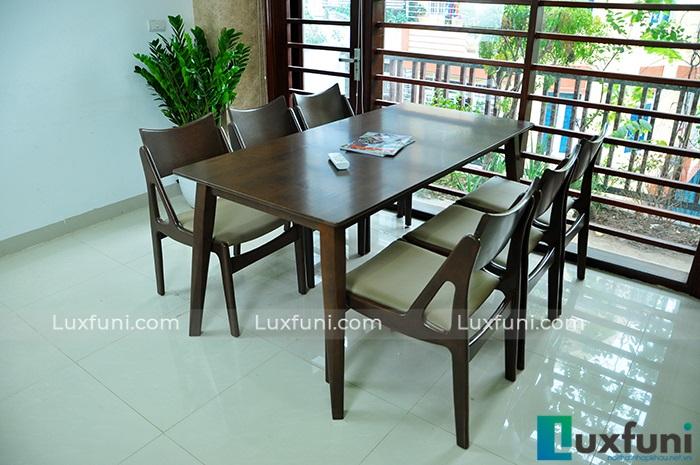 Top 15+ mẫu bàn ghế gỗ cao su - Hàng nhập khẩu chính hãng-5