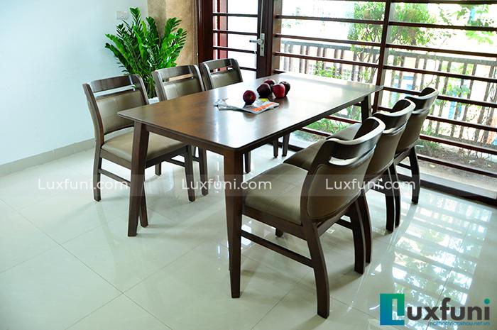 Top 15+ mẫu bàn ghế gỗ cao su - Hàng nhập khẩu chính hãng-6