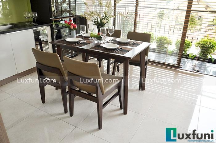 Top 15+ mẫu bàn ghế gỗ cao su - Hàng nhập khẩu chính hãng-8
