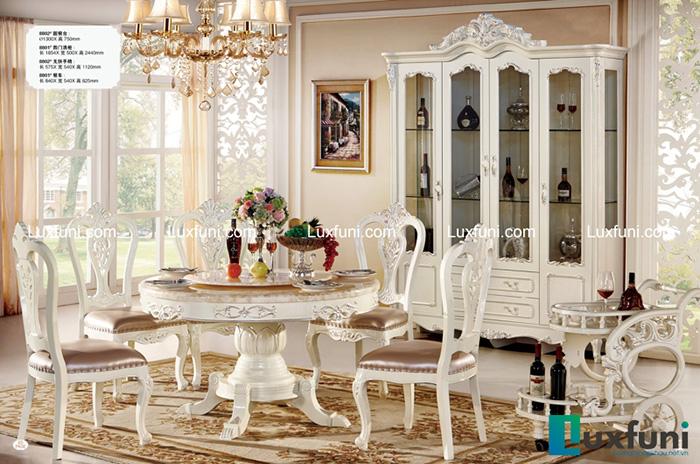 Bộ bàn ăn 8802X tân cổ điển đẹp giá hời