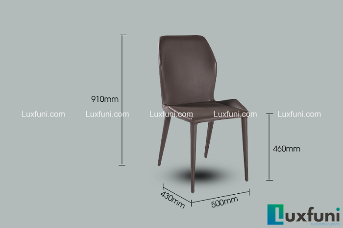 Ghế bàn ăn cao cấp màu nâu đen