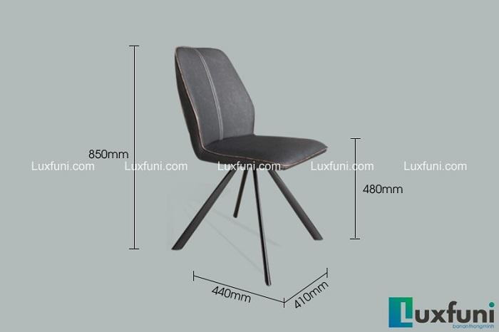 Ghế bàn ăn cao cấp làm bằng hợp kim sơn tĩnh điện và da PU