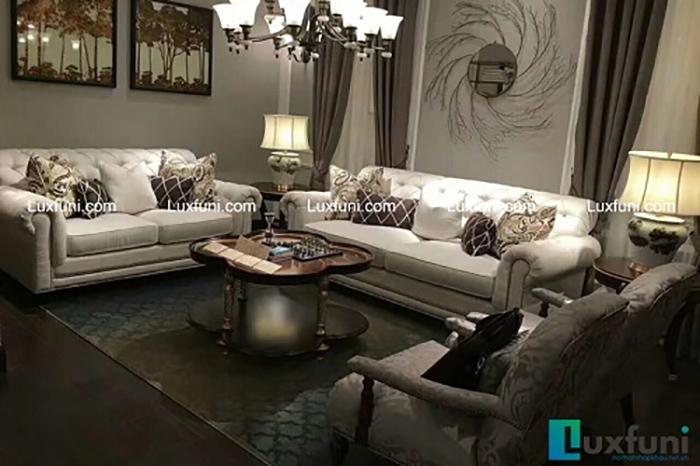 Thảm trải sàn trong phòng khách
