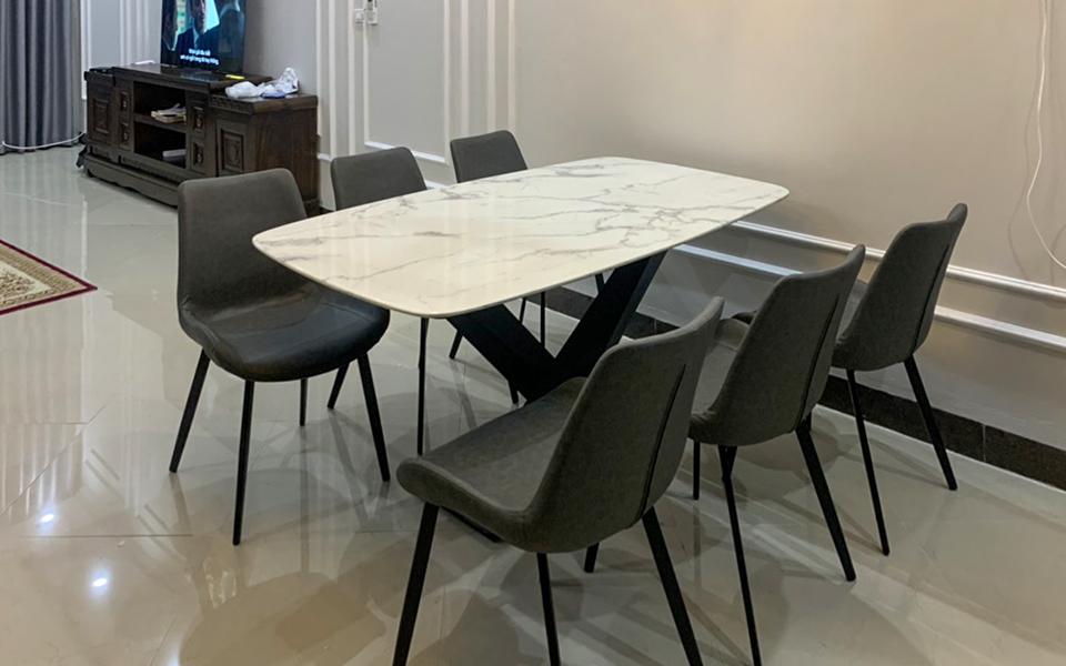 Bộ bàn ăn T261 đá hoa cương xuyên sáng-13