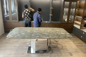 Bàn ăn mặt đá Onyx TC8246-Anh Tuấn-KĐT Trung Văn, Vinaconex