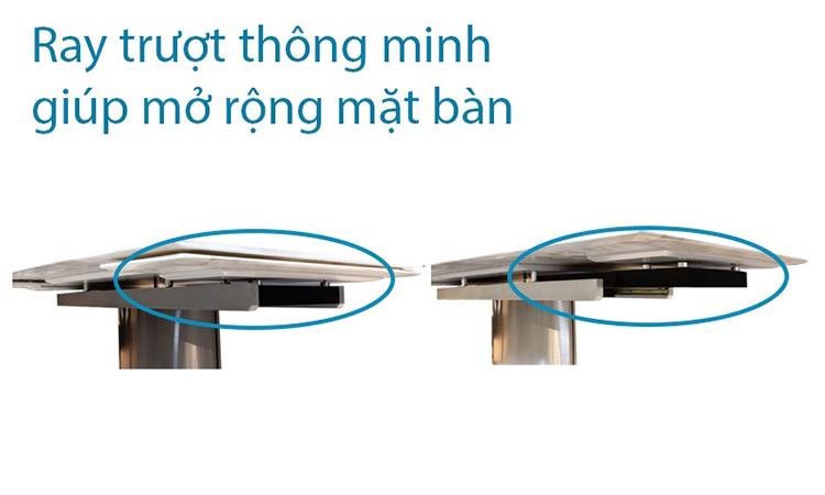 Hệ ray trượt bàn ăn thông minh T809