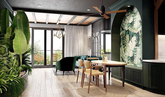 Thiết kế nội thất nhà ở theo phong cách xanh, thân thiện