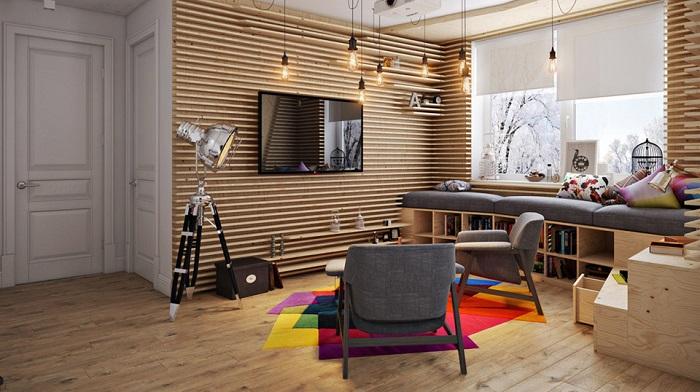 Thiết kế nội thất bằng gỗ