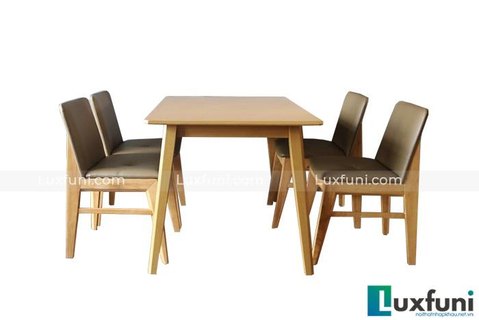 bàn ăn 4 ghế nhỏ gọn Kudo