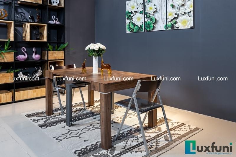rất khó để phân biệt giữa bàn ăn thông minh gỗ MDF và bàn ăn gỗ tự nhiên