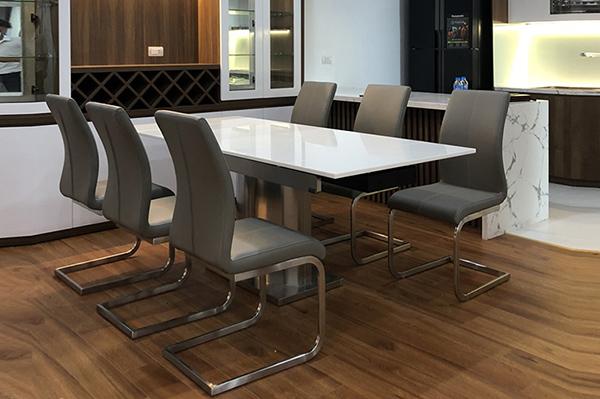 ộ bàn ăn 6 ghế cao cấp Vivi 8606