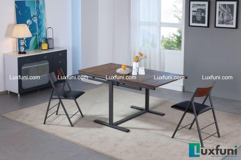B2473 là một mẫu bàn ghế  ăn thông minh từ gỗ với tinh gọn, hiện đại