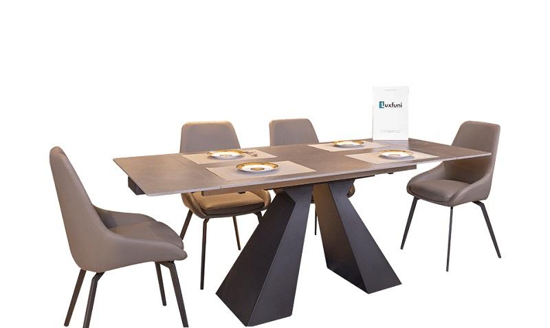 Mẫu bàn mở rộng mặt gốm T21-1901