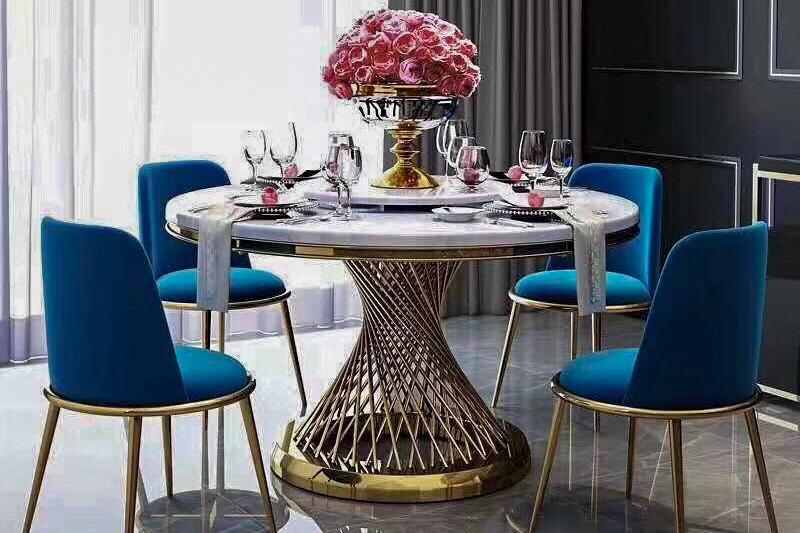 Bộ bàn ăn 4 ghế đẹp bằng đá nhân tạo