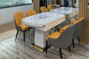 Ghế ăn D103 kết hợp bàn ăn bếp từ 855-Chị Tùng-Tòa nhà Gardenia. chung cư Hồng Hà F.CO City-2
