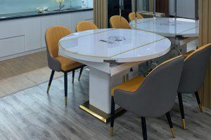 Ghế ăn D103 kết hợp bàn ăn bếp từ 855-Chị Tùng-Tòa nhà Gardenia. chung cư Hồng Hà F.CO City