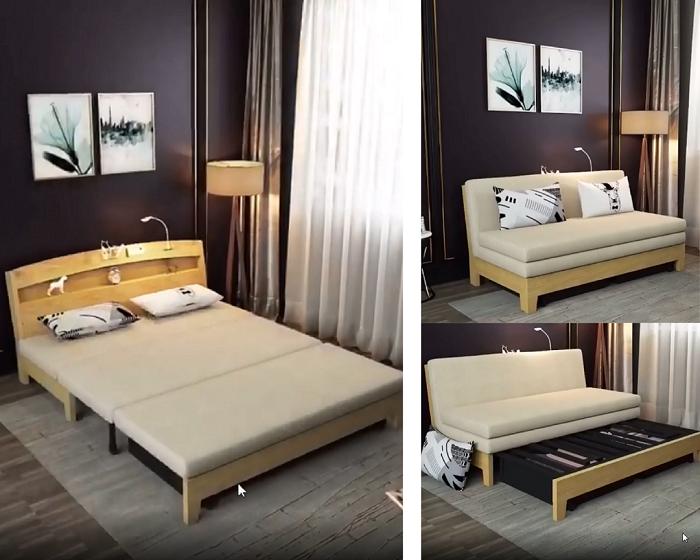 Nội thất thông minh ghế kết hợp giường