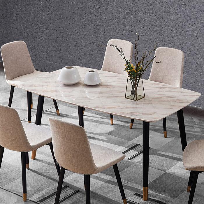 Vẻ đẹp của bàn ăn mặt đá Ceramic