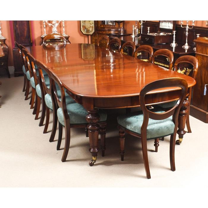 Bộ bàn ăn 12 ghế chất liệu gỗ cao cấp