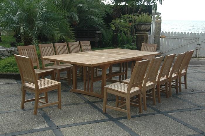 Bàn gỗ thông minh kết hợp 12 ghế
