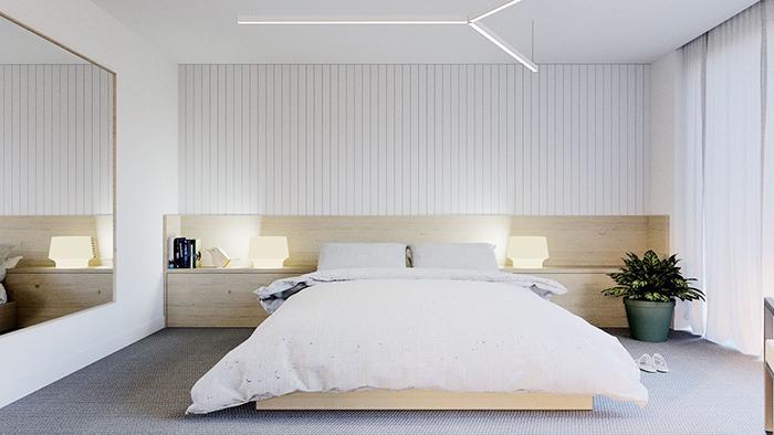 Vẻ đẹp phong cách tối giản trong phòng ngủ