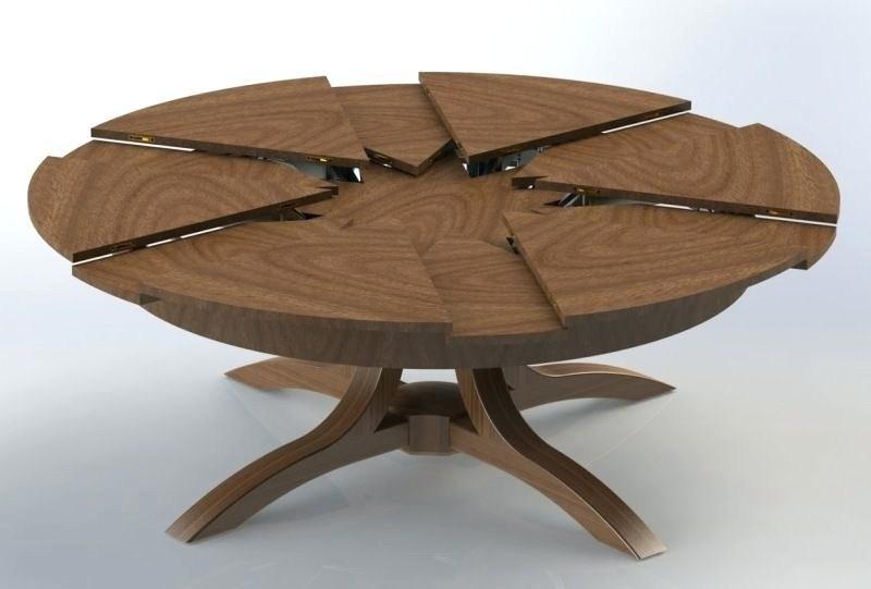Bàn ăn thông minh tròn xoay bằng gỗ tự nhiên