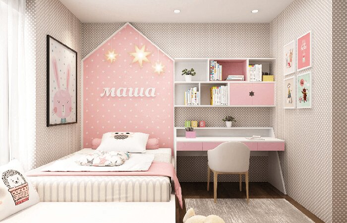 Ý tưởng trang trí phòng ngủ cho con gái cá tính