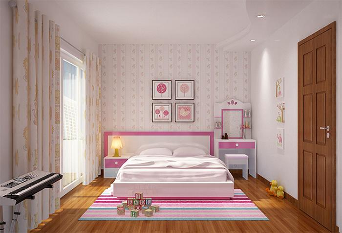 Ý tưởng thiết kế phòng ngủ đơn giản cho con