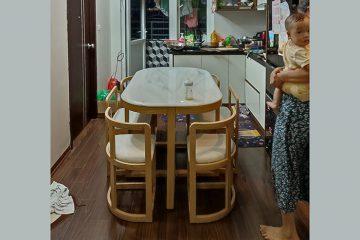 Bộ bàn ăn thông minh C1 (Kèm 6 ghế)