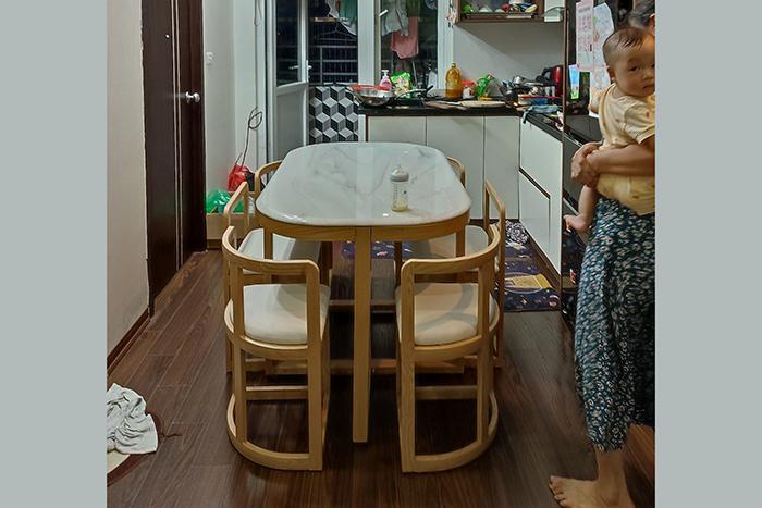 Bộ bàn ăn C1-Chị Lam Anh-Thành phố Hưng Yên