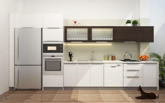 Nhà bếp chữ I chung cư cao cấp