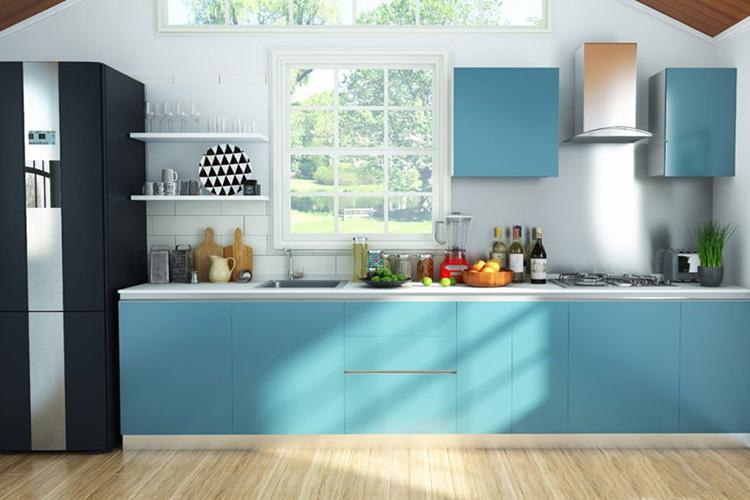 Nhà bếp chữ I thiết kế thoáng đãng