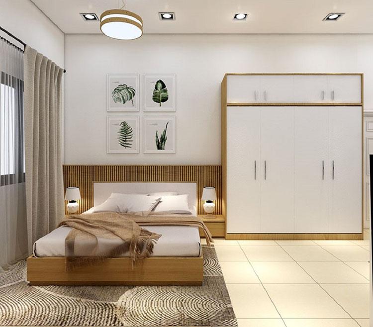 Sử dụng tủ quần áo cánh lùa kết hợp giường ngủ thông minh