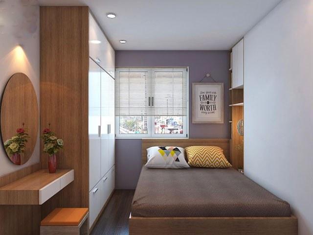 Ánh sáng giúp phòng ngủ nhỏ rộng rãi hơn