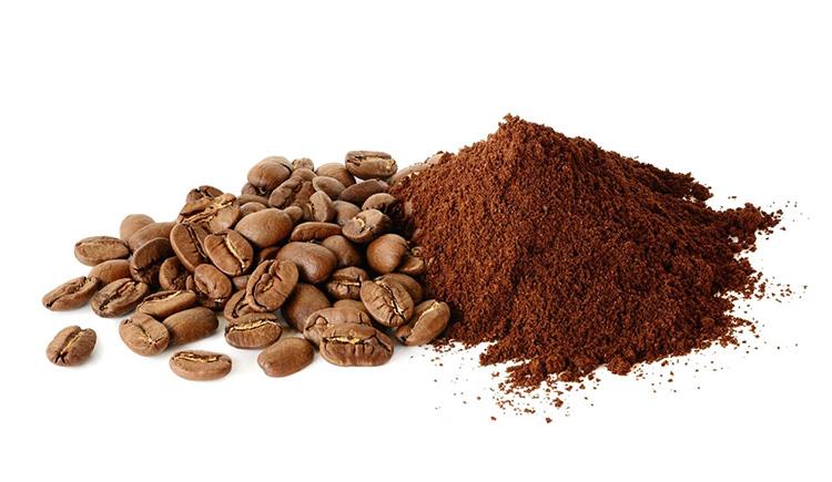 bã cà phê sau khi sử dụng lại, đặt cẩn thận trong gian bếp gia đình
