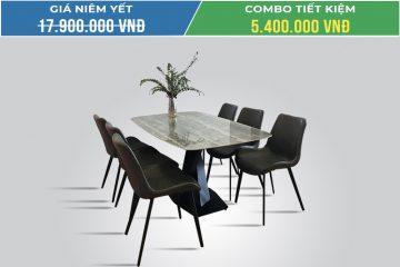 Bộ bàn ăn mặt đá T261