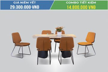 Bộ bàn ăn 6 ghế mặt đá T273